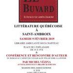 Litérature Québécoise à Saint-Ambroix